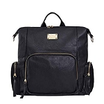 SoHo Collections - Frankfort 3-in-1 Vegan Leather Convertible Diaper Bag