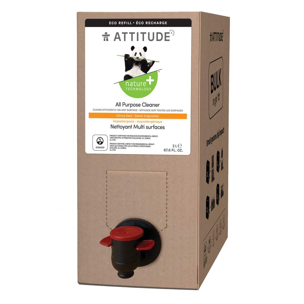 Attitude - All Purpose Cleaner Citrus Zest 2L Bulk Refill