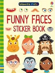 Usborne 'Funny Faces Sticker' Mini Book