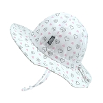Twinklebelle - Jan & Jul Cotton Floppy Grow With Me Sun Hat - Diamond Hearts