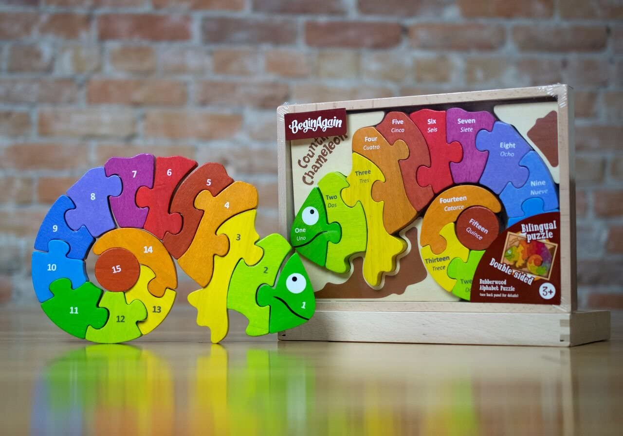 Begin Again Counting Chameleon Number Puzzle