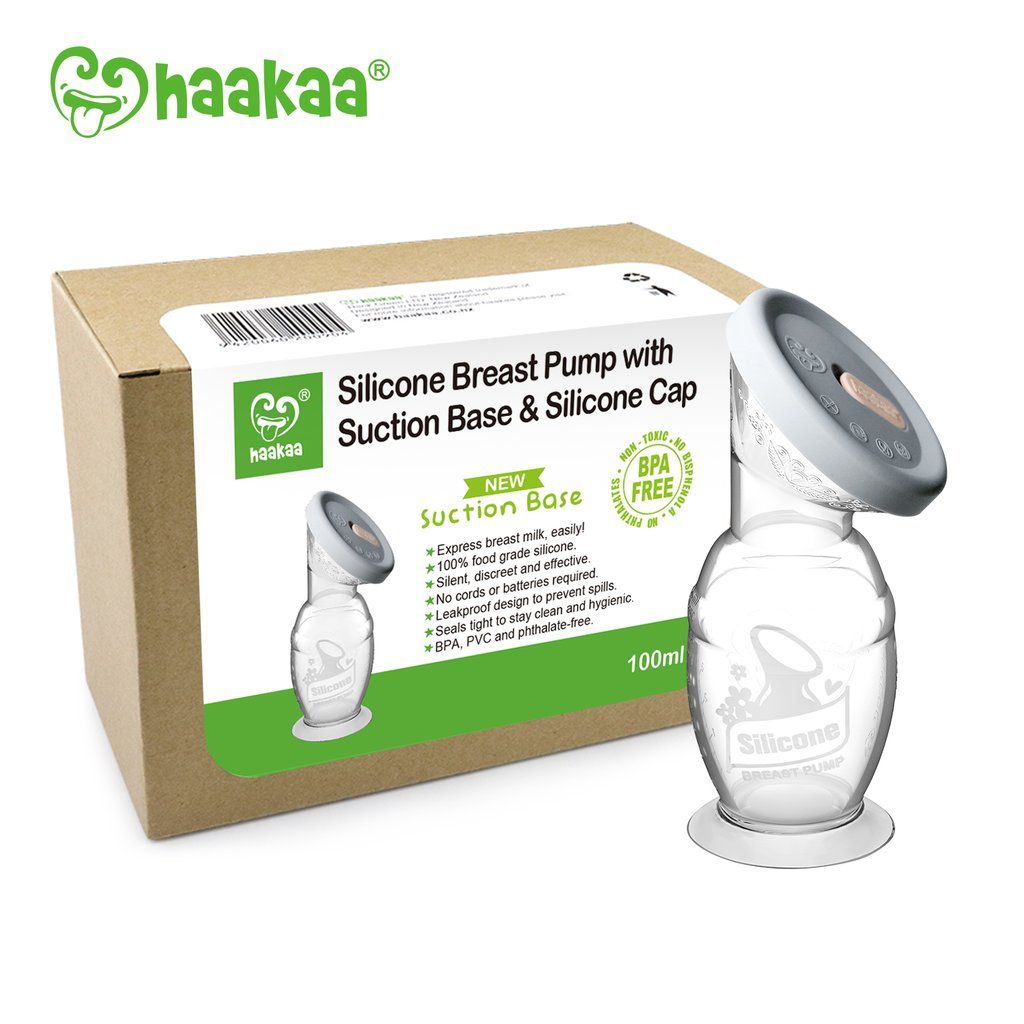 Haakaa - Silicone Breast Pump with Lid combo 100 ml