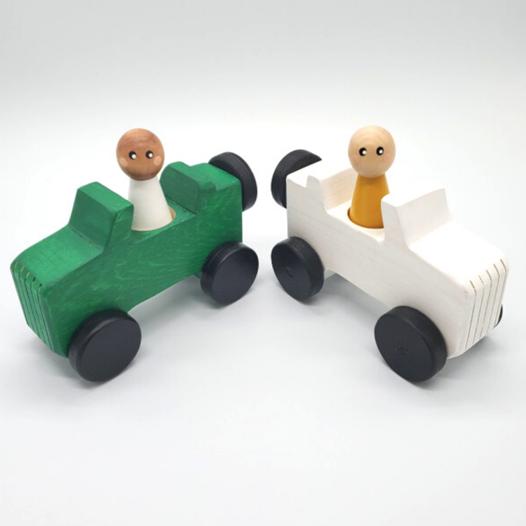 Meadowlark Toy Company - Jeep & Modern Peg Doll