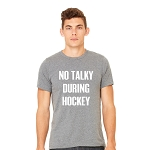 Portage & Main No Talky During Hockey Tee - unisex