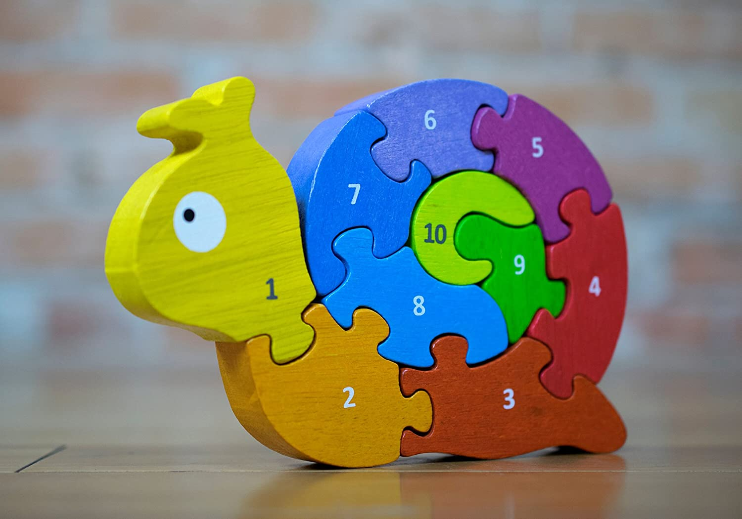 Begin Again Number Snail Learning Puzzle
