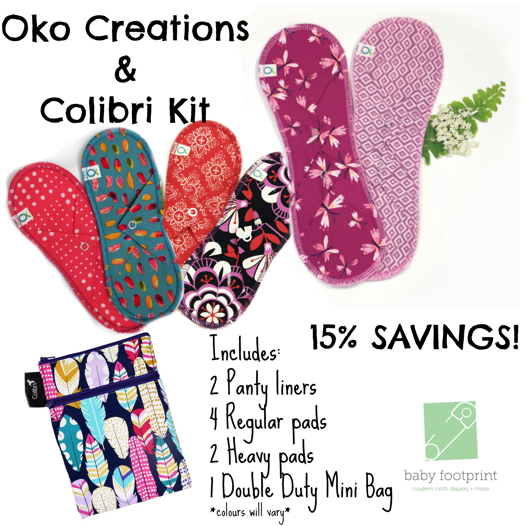 Oko Creations & Colibri Mama Cloth Kit