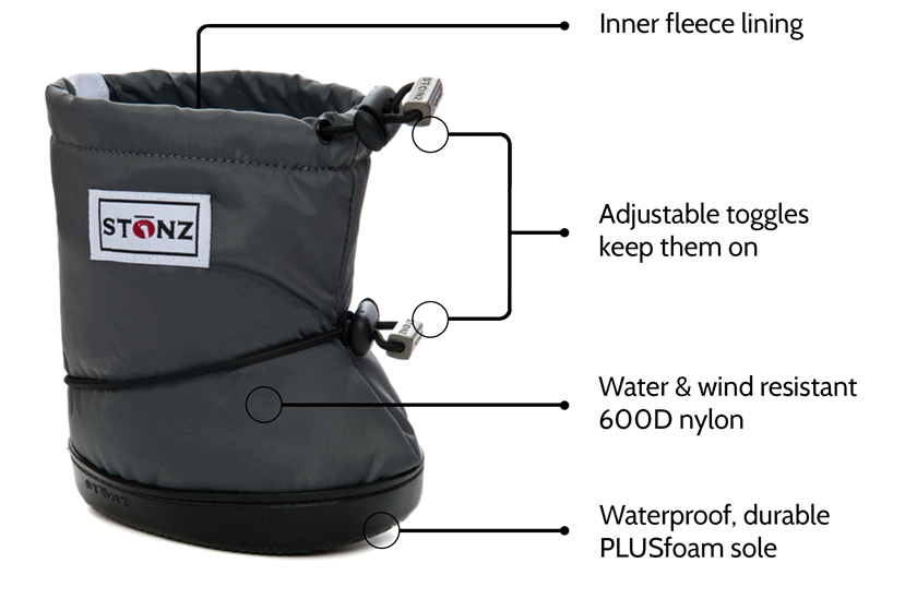 Stonz Booties with 'PLUS' Foam Size XL