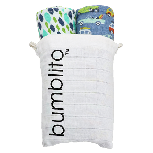 bumblito Organic Swaddles 2 pack