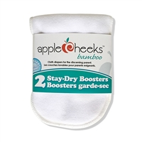AppleCheeks Stay-Dry Rayon from Bamboo Booster 2 pack