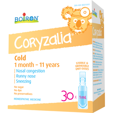 Boiron - Coryzalia Cold (1-11yrs old ) 30x1ml doses