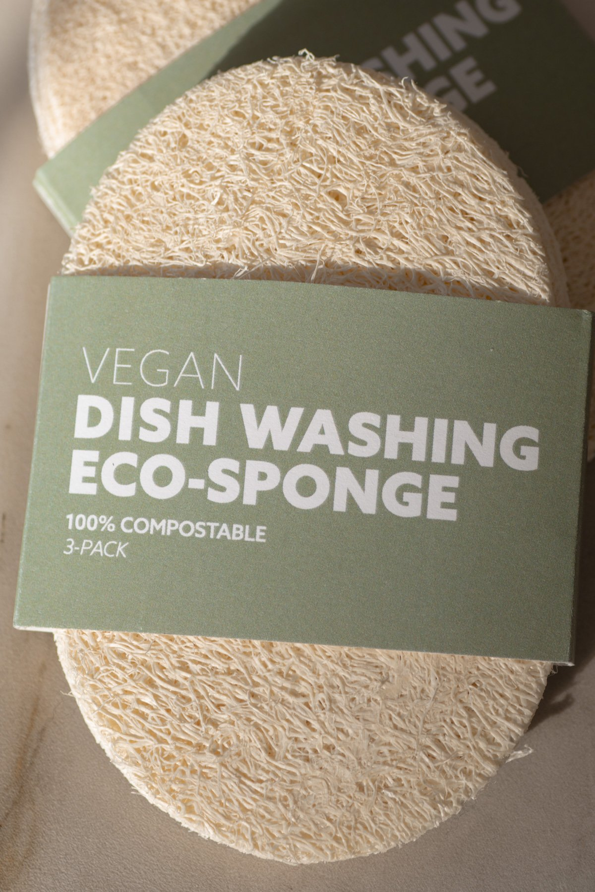 No Tox Life Biodegradable Eco-Sponges for Dish Washing (3 Pack)