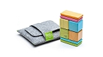 Tegu Magnetic Wooden Blocks Pocket Pouch 8pc Original