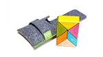 Tegu - Magnetic Wooden - Prism Pocket Pouch 6 pc