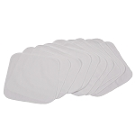 Smart Bottoms - Quilted Cotton Reusable Wipes 10 pack *white*