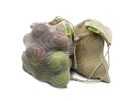 Tru Earth Reusable Cotton Mesh Produce Bags - Set of 6