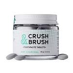 Nelsons Naturals Crush & Brush Toothpaste Tablets - Mint Charcoal (approx 80pc)