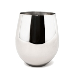 Danesco Stemless Stainless Steel Wine Goblet