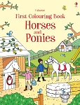 Usborne 'First Colouring Book Horses & Ponies' Book