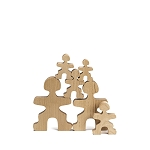 Flockmen Wooden Toys Family Set (30pc)