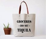 Fun Club Canvas Tote - Groceries, Not Tequila