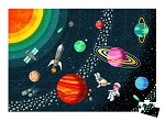 Janod Educational Puzzle - Solar System 100pc