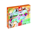 Janod Tactile Puzzle - A Day at the Zoo 20pc