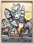 Begin Again Lunar Landing Stacking Game & Play Set