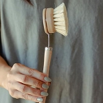 No Tox Life - Dish Brush - White teakwood & Agave Fiber Brush