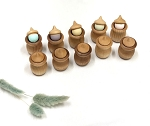 AW & Co Wooden Peek a Boo Acorn Set