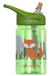 EcoVessel The SPLASH Kids Tritan Water Bottle with Straw Top 12oz