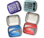 Silikids Reusable Straw with Travel Tin
