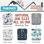 Thirsties Natural One Size All In One Bundle