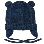 CaliKids Baby/Infant Cotton Knit Bear Hat