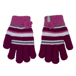 CaliKids Knit & Berber Lined Gloves - Magenta/Black