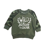 Portage & Main Kids Raglan - Wild Is My Favourite Colour *Size 3/4 only*