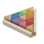 Ocamora Wood Triangular Prisms Natural & Coloured