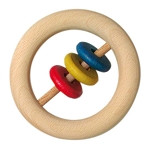 Gluckskafer Wood Rattle