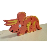 Begin Again Dinosaur Skeleton Puzzle - Triceratops