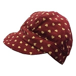 Twinklebelle - Gro-with-me Fall Caps - Burgundy Hearts