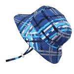 Twinklebelle Aqua Dry Grow With Me Hat Blue Plaid