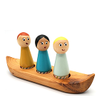 Meadowlark Toy Company - Canoe Set with Peg Dolls