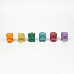 Grapat Wood Coloured Coins 36pc (No Basic Colours)