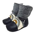 Nooks Design Felt Wool Booties Embroidered - Cove