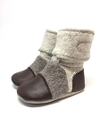 Nooks Design Felt Wool Booties Driftwood
