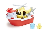 Green Toys Rescue Boat with Helicopter