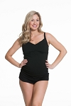 Cake Maternity Ice Cream Nursing Tank (B-DD) Black