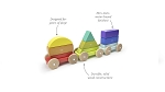 Tegu Baby & Toddler - Magnetic Shape Train - Rainbow
