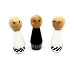 Meadowlark Toy Company - Monochrome Peg Doll set