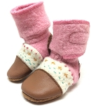 Nooks Design Felt Wool Booties Embroidered - Abalone