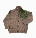 Nooks Hand Knit Wool Cardigan - Caribou